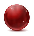 cherry red glass ball vector image vector image