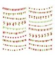 christmas festive garlands vector image vector image