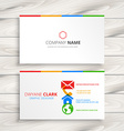 clean business card template vector image vector image
