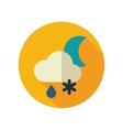Cloud Snow Rain Moon flat icon Weather vector image