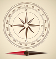 Compass outline vector image vector image