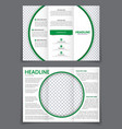 design triple flyer with space for photo in the vector image vector image