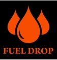 drop of fuel vector image