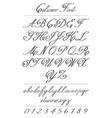 elegant calligraphy letters with florishes vector image vector image