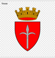 emblem of trieste vector image vector image