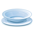 Empty dinner plate with stand vector image vector image