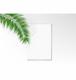 feminine wedding desktop blank paper card top view vector image vector image