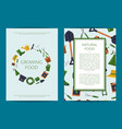 flat gardening icons card or flyer vector image