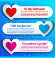 greeting amorous horizontal banners vector image vector image