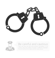 icon handcuffs vector image