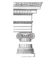ionic order reintroduced vintage engraving vector image vector image