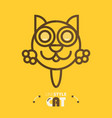 line style cat vector image vector image