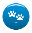 lion step icon blue vector image vector image