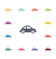 mini car flat icons set vector image