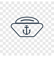 navy hat concept linear icon isolated on vector image