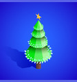 new year christmas tree isometric vector image