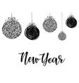 new year - lettering inscription to winter vector image