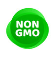 non gmo icon green gmo free logo sign vector image