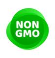 non gmo icon green gmo free logo sign vector image vector image
