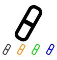 pill stroke icon vector image