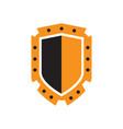 powerfull shield logo abstract symbol security vector image vector image