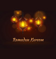 ramadan celebration art banner background festive vector image