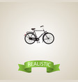 realistic dutch velocipede element vector image vector image