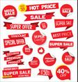 red sale stickers and tags collection vector image