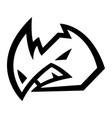 rhino horns animal cartoon icon vector image vector image