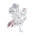Rooster in graphic style vector image