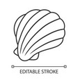 Sea shell linear icon mollusk shell protective