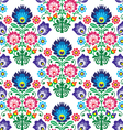 Seamless Polish Slavic folk art floral pattern vector image vector image