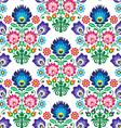 Seamless Polish Slavic folk art floral pattern vector image