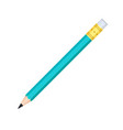 simple graphite pencil with rubber eraser icon vector image