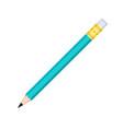 simple graphite pencil with rubber eraser icon vector image vector image