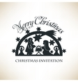 Simple Nativity scene Christmas invitation vector image vector image