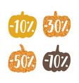 stylish glitter pumpkins labels vector image