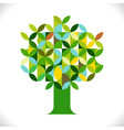 Tree symbol with geometric pattern concept
