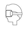 virtual reality technology vector image