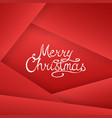 winter holiday red stylish xmas background merry vector image