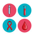 world hemophilia day set icons vector image