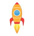 Yellow Rocket vector image vector image