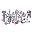 industrial background of the operating mecha vector image