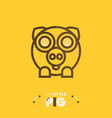 line style pig vector image
