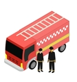 Of Fire truck Car Isolated vector image