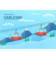 cable car with place for text vector image