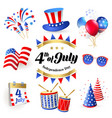 4th july independence day of united states of amer vector image