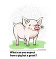 a series of postcards with a piglet proverbs and vector image vector image