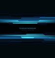 abstract technology cyber circuit blue black vector image vector image