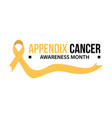 appendix cancer awareness vector image vector image